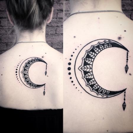 crescent moon design Tattoo Design Thumbnail