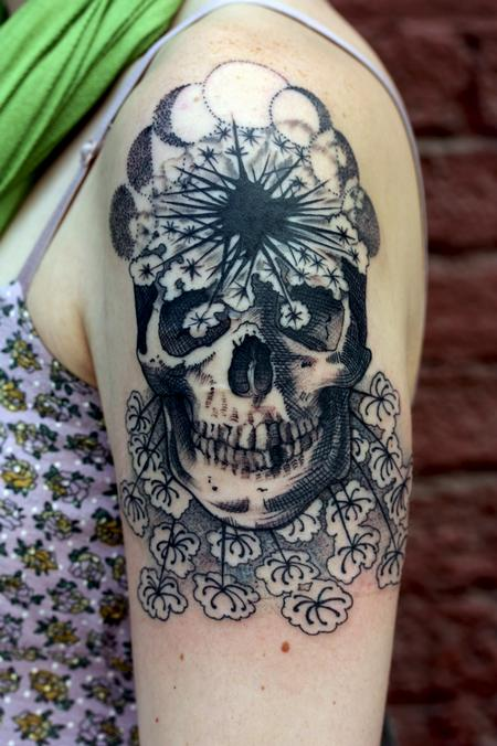 Illustrative skull Tattoo Design Thumbnail