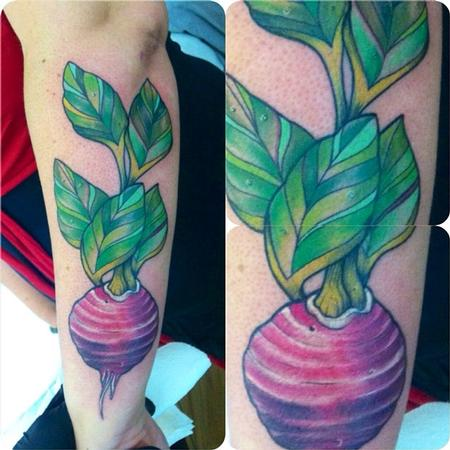 Tattoos - Beet tattoo - 82302