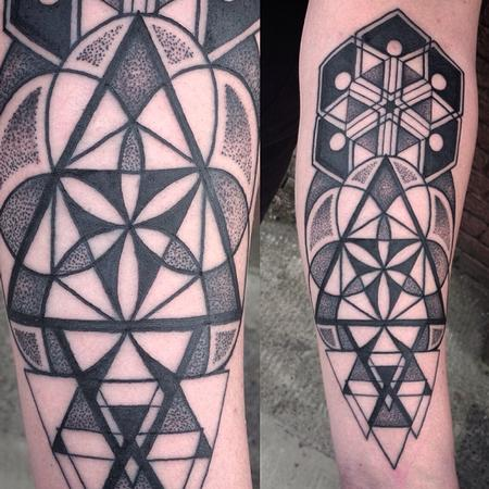 Sacred geometry forearm Tattoo Design Thumbnail