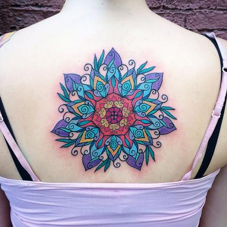 Color mandala Tattoo Design Thumbnail