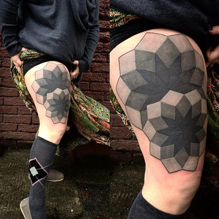Tattoos - Geometric opaque blacks - 99784