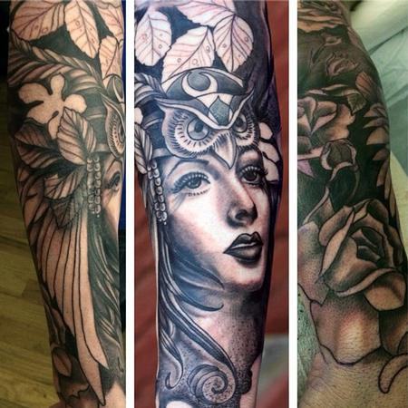 Tattoos - Mother nature half sleeve - 85646