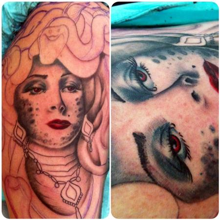 Tattoos - Medusa half sleeve - 82199