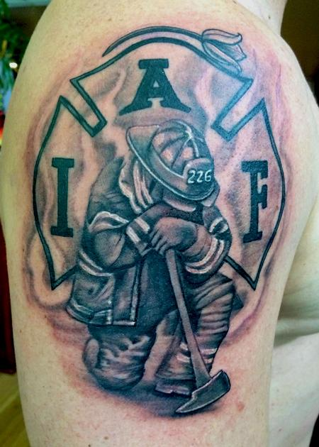 Tattoos - fire fighter memorial - 93781