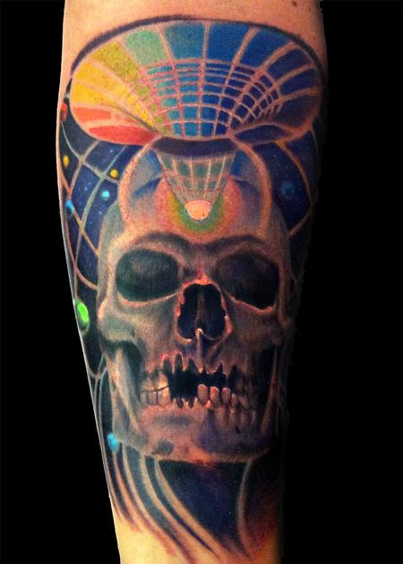 Tattoos - space skull - 78310