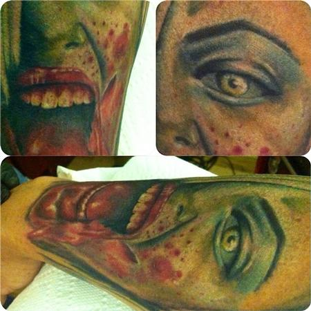 Tattoos - start of zombie sleeve - 82303