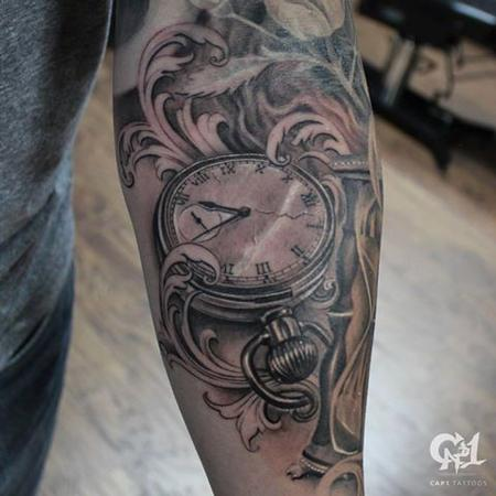 Tattoos - Pocket Watch Tattoo - 128181