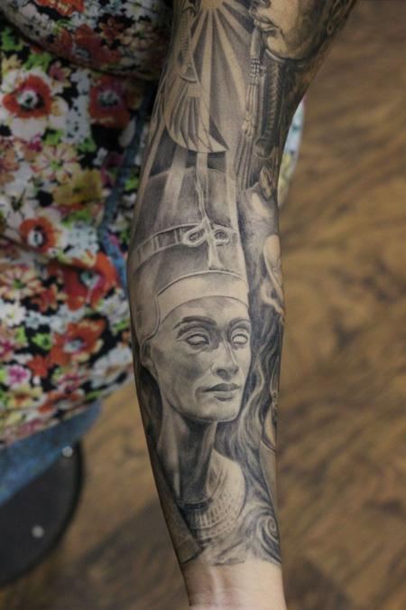 Nefertiti Egyptian Queen Tattoo Design Thumbnail