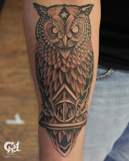 Tattoos - Deathly Hollows Owl - 126933