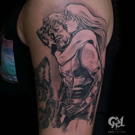 Capone - Green Arrow and Black Canary Tattoo