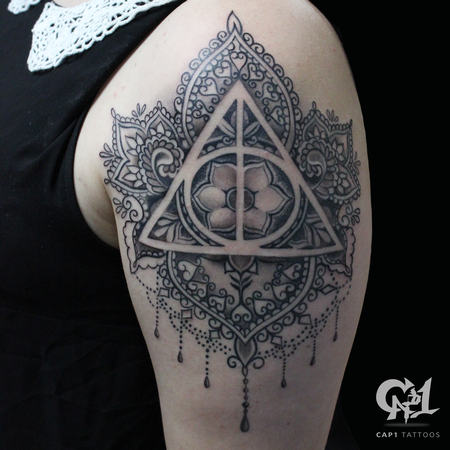 Harry Potter Deathly Hollows Mandala Design Thumbnail