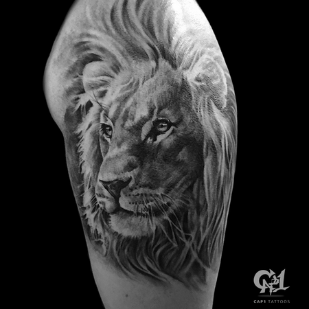 Realistic Lion Tattoo Design Thumbnail