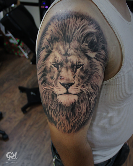 Tattoos - Realistic Lion Tattoo - 130064