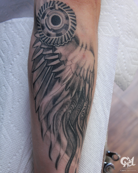 Tattoos - Mechanical Wing Tattoo - 128833