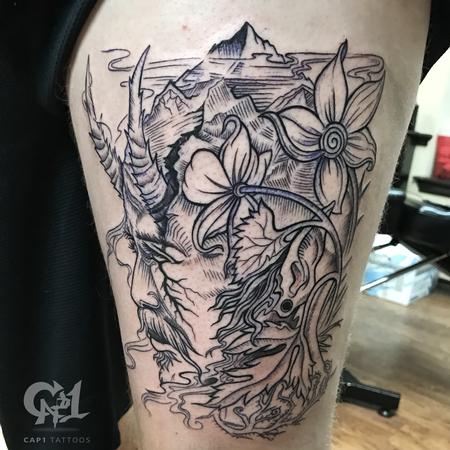 Capone - Mountain Man Tattoo (Original Art)