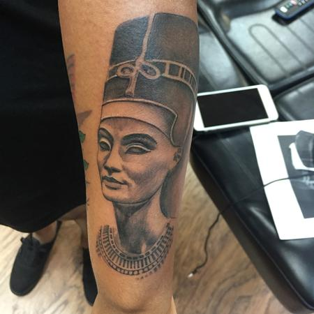 Black And Gray Nefertiti Egyptian Queen  Design Thumbnail