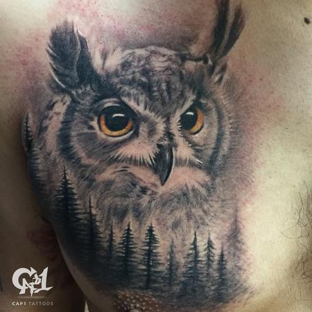 Tattoos - Realistic Owl Tattoo - 126970