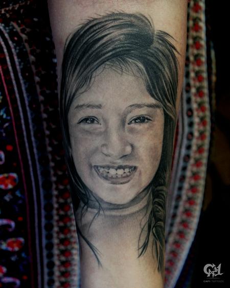 Capone - Realistic Portrait Tattoo