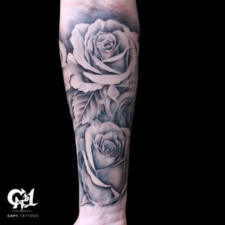 Tattoos - Rose Tattoo Sleeve - 126644