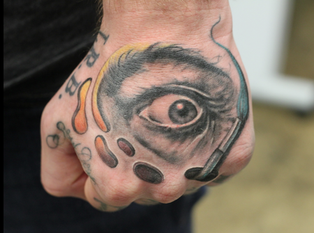 Tattoos - Dali Hand Tattoo - 114688
