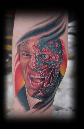 Two face by carlos lopez tattoonow for Two faced tattoo
