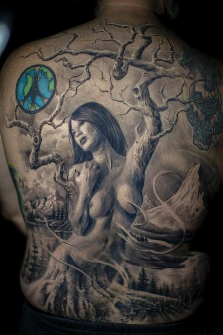 Tattoos - Tree Woman  - 132401