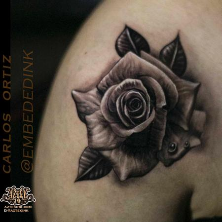 Tattoos - rose tattoo by Carlos ortiz chicago - 132141