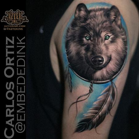wolf tattoo by Carlos ortiz Design Thumbnail