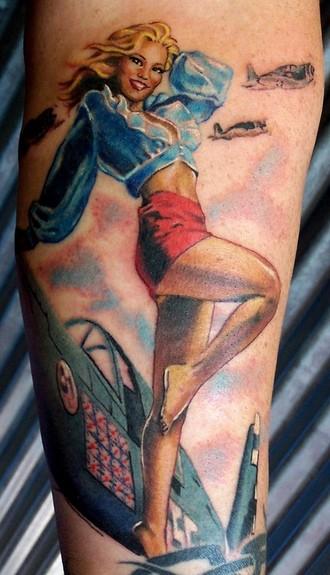 Tattoos - Bomber Girl  - 50270