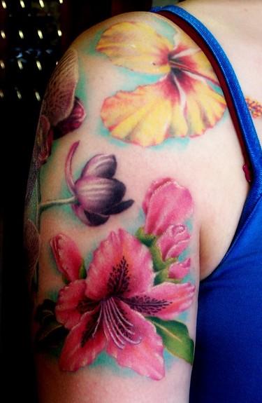 Tattoos - Flowers - 50234