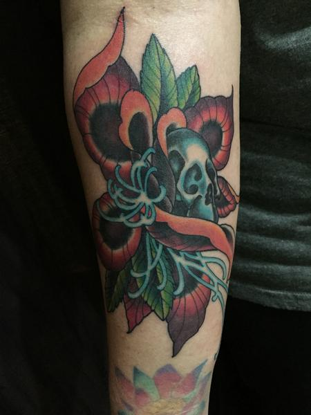 Skull in Flower Design Thumbnail