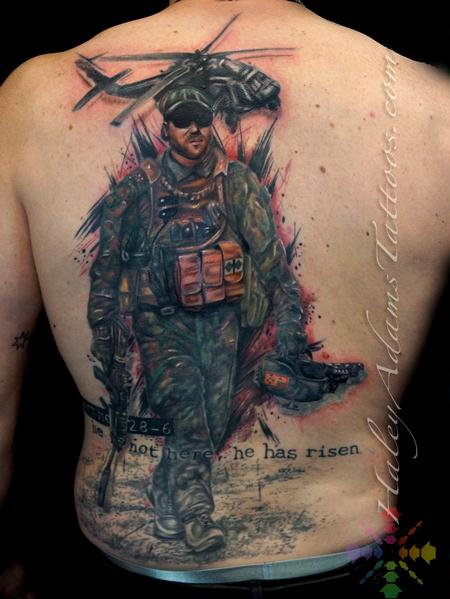 Tattoos - Australian military memorial piece for his brother. - 127721