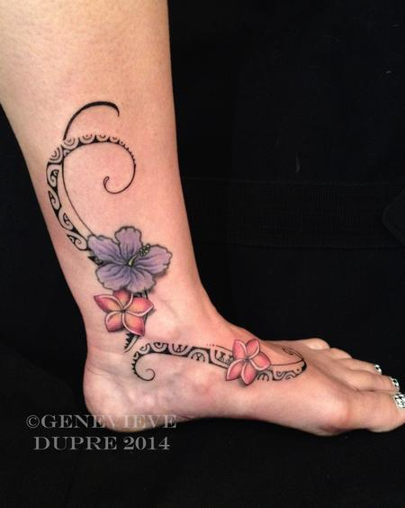 Tattoos - Flower Foot - 126859