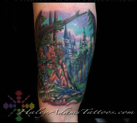 Tattoos - Beauty and the Beast Forest tattoo - 127716