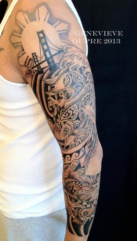 Tattoos - Koi Sleeve - 126992