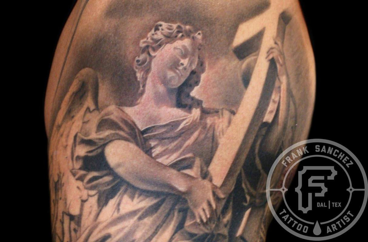 Tattoos - Angel Statue  - 67378