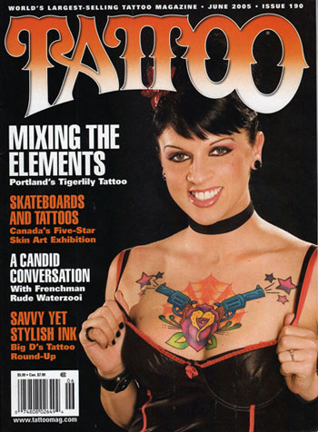 cat tattoo studio in tattoo magazine issue 190 by