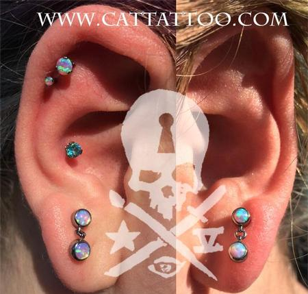 Brittany Jo - Double cartilage, Conch, Lobes/IS