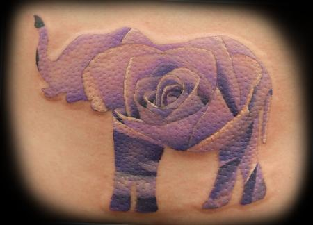 Tattoos - Elephant Rose  - 128892