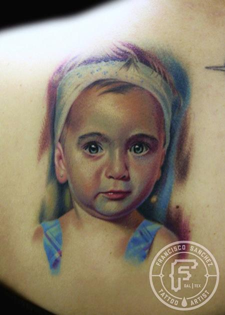 Tattoos - baby portrait - 72506