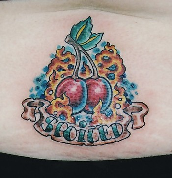 Cherries by christopher sheehan tattoonow for Cat tattoo addison