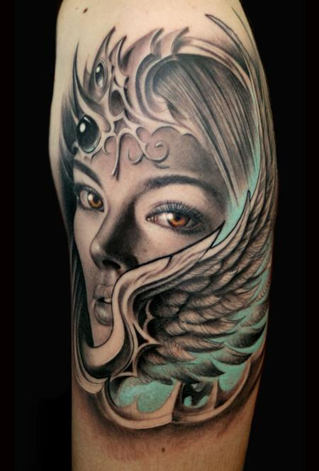 Tattoos - valkyrie wing - 60895