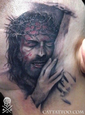Religious Tattoos on Cat Tattoo   Tattoos   Religious   Jesus 1