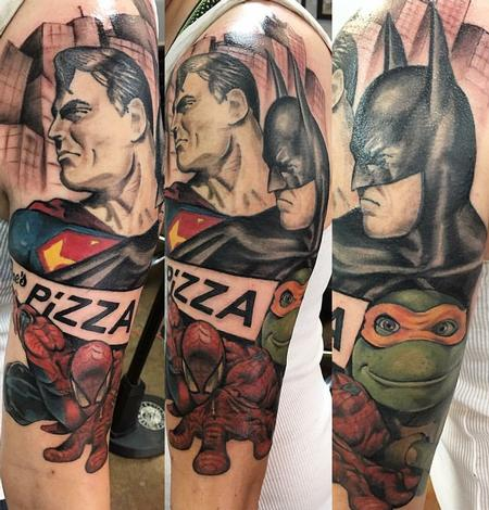 heroes by joseph valle tattoos. Black Bedroom Furniture Sets. Home Design Ideas