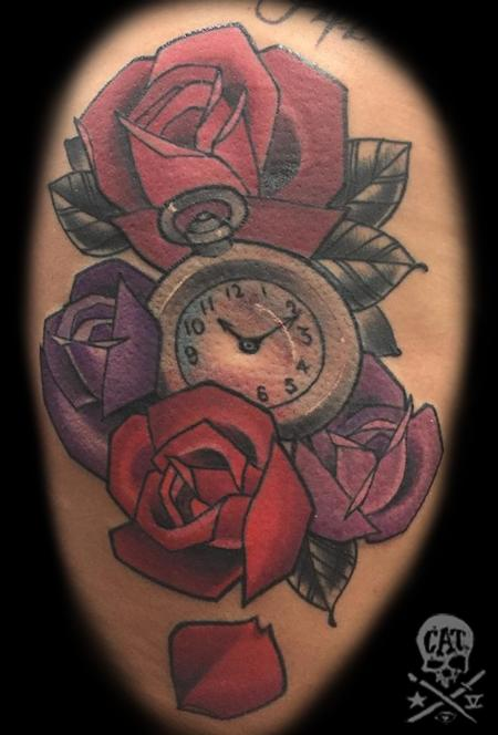 Tattoos - Watch and Roses - 126819