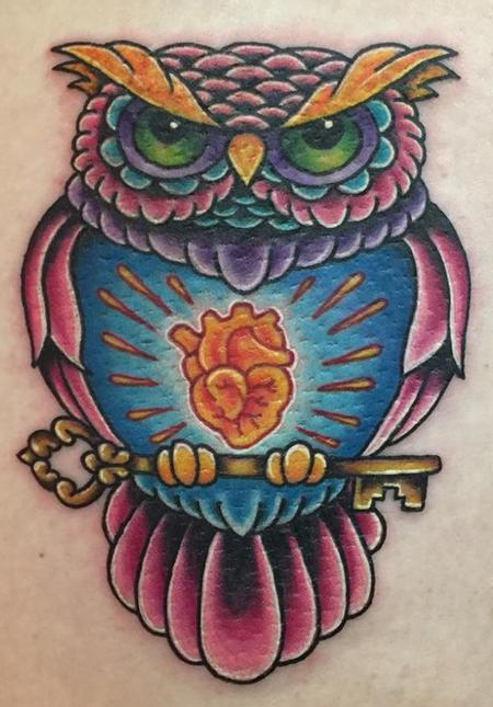Tattoos - Owl - 129154