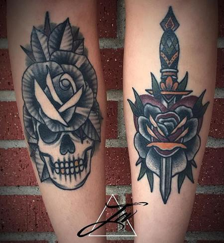 Tattoos - Skull/Rose - 130913