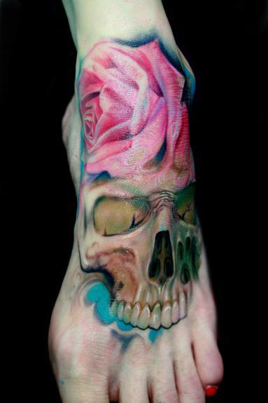 Rember - flower with skull