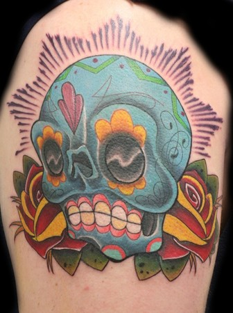 Ron Givens (Ronstafari) - blue suga skull